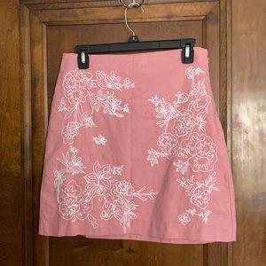 Loft Pink Shift Skirt